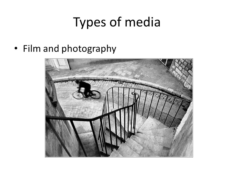 Types of media Film and photography