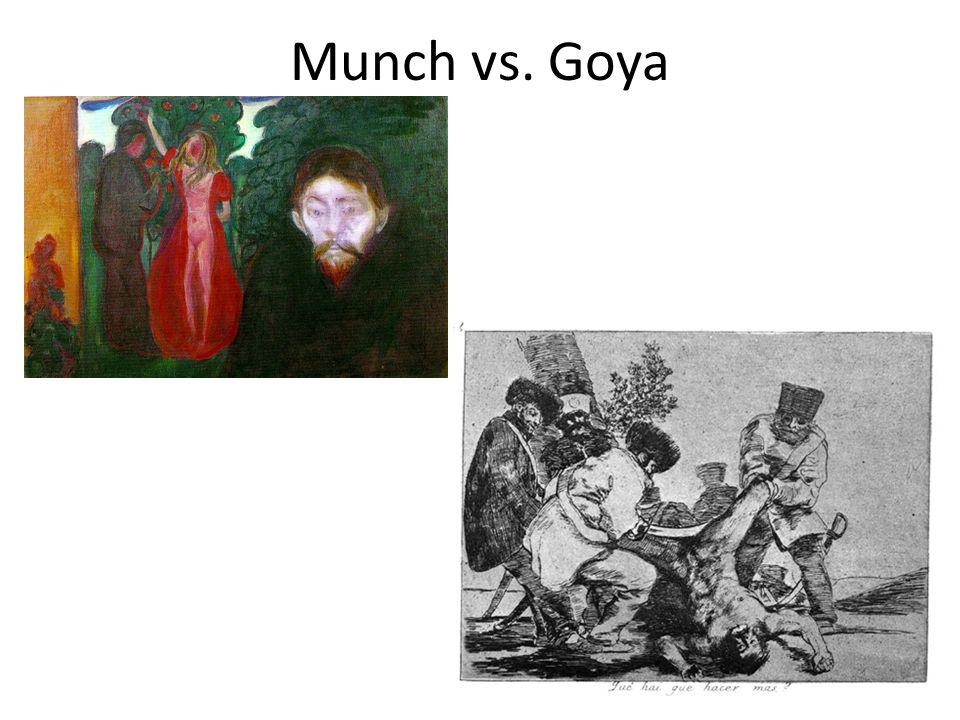 Munch vs. Goya