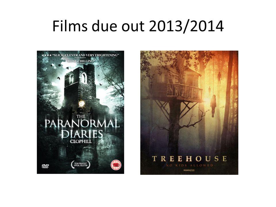 Films due out 2013/2014