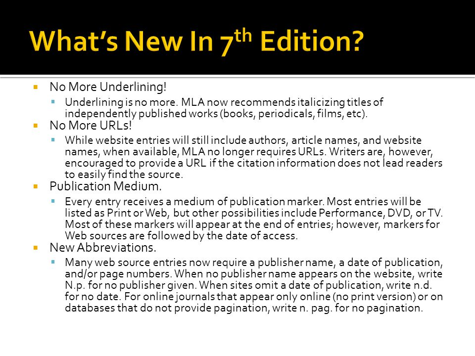 What's New In 7th Edition