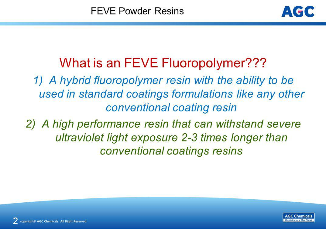 FEVE Fluoropolymer Resins