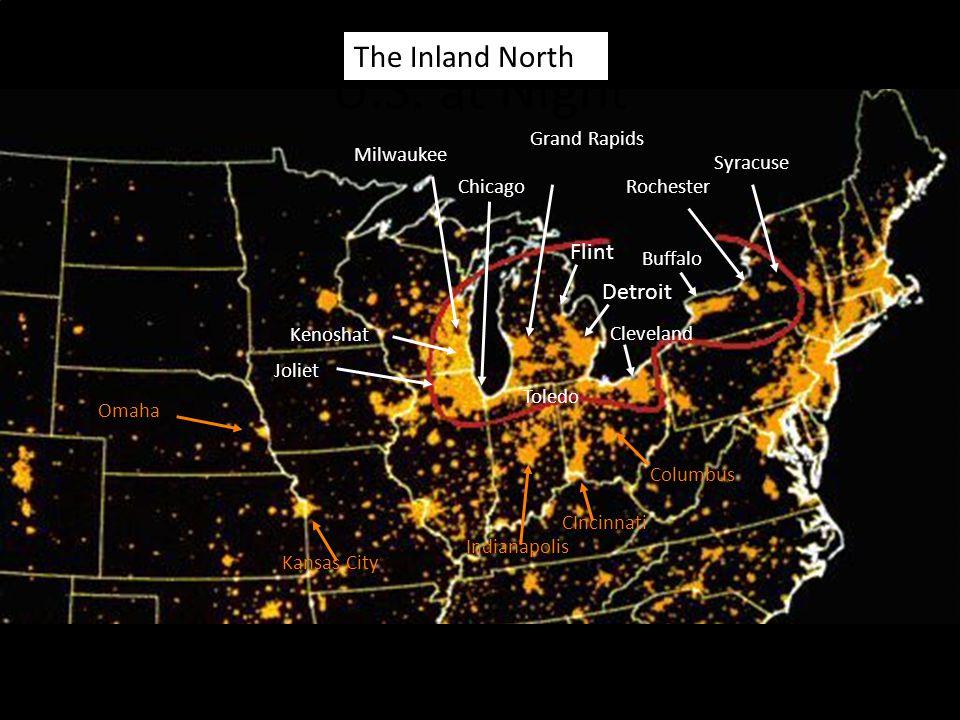 U.S. at Night The Inland North Flint Detroit Grand Rapids Milwaukee