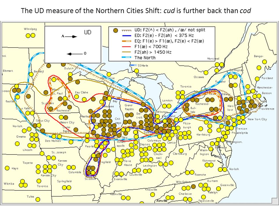 The UD measure of the Northern Cities Shift: cud is further back than cod