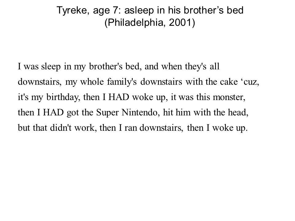 Tyreke, age 7: asleep in his brother's bed (Philadelphia, 2001)