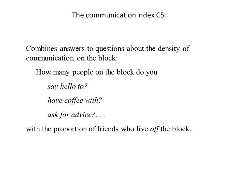 The communication index C5