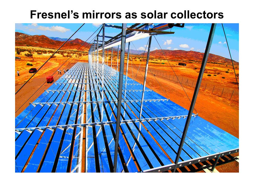 Fresnel's mirrors as solar collectors