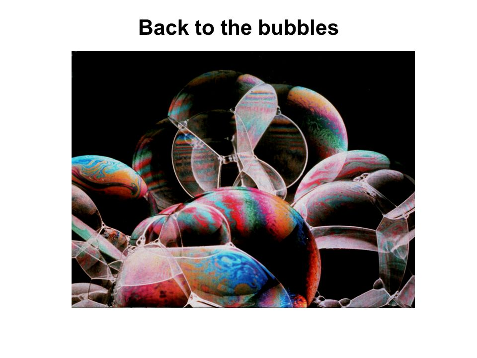 Back to the bubbles