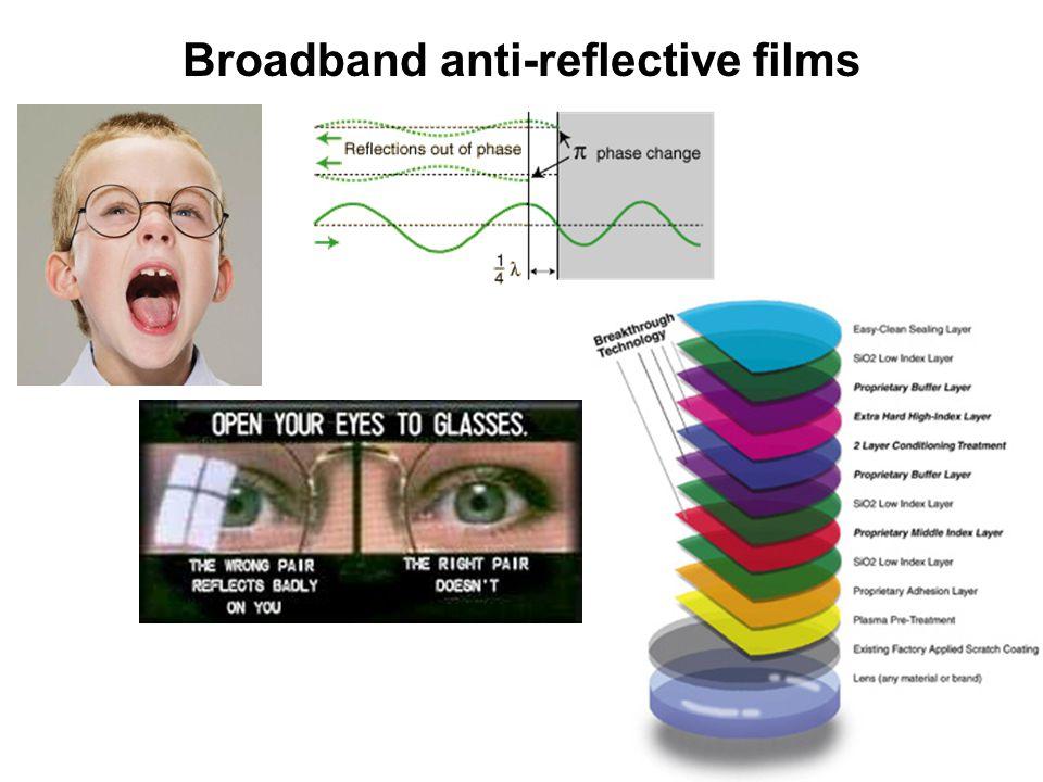 Broadband anti-reflective films