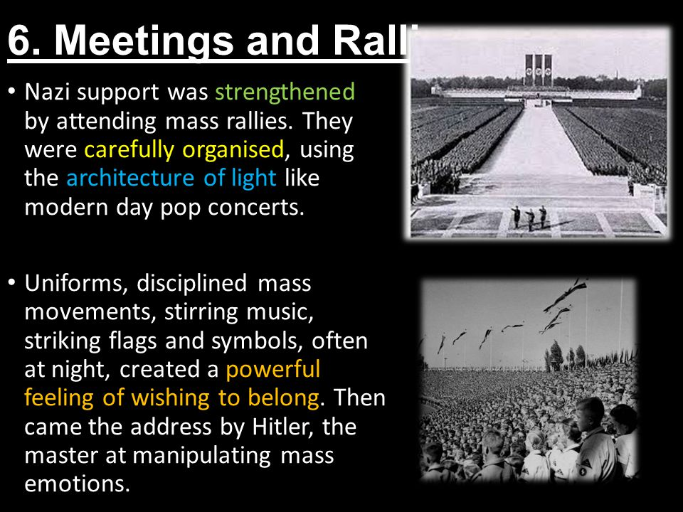 6. Meetings and Rallies