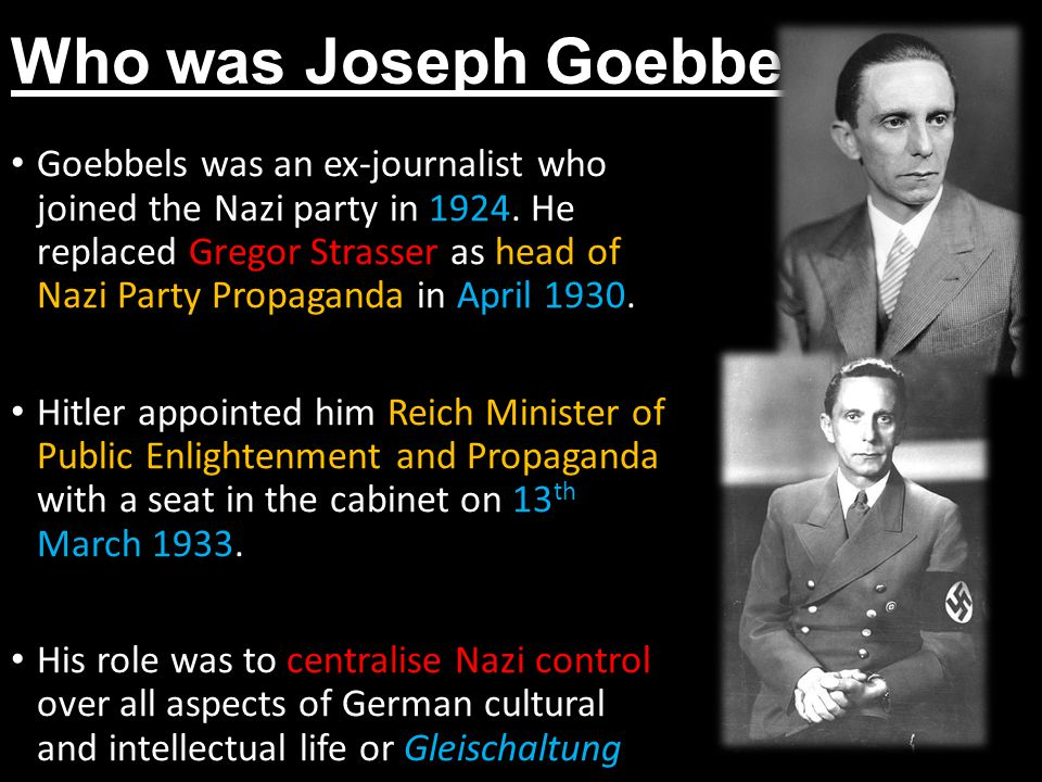 Who was Joseph Goebbels