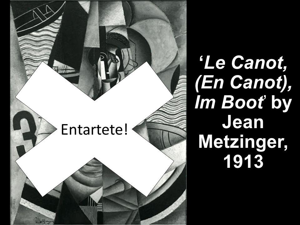 'Le Canot, (En Canot), Im Boot' by Jean Metzinger, 1913