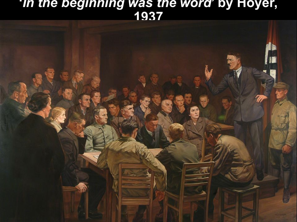 'In the beginning was the word' by Hoyer, 1937