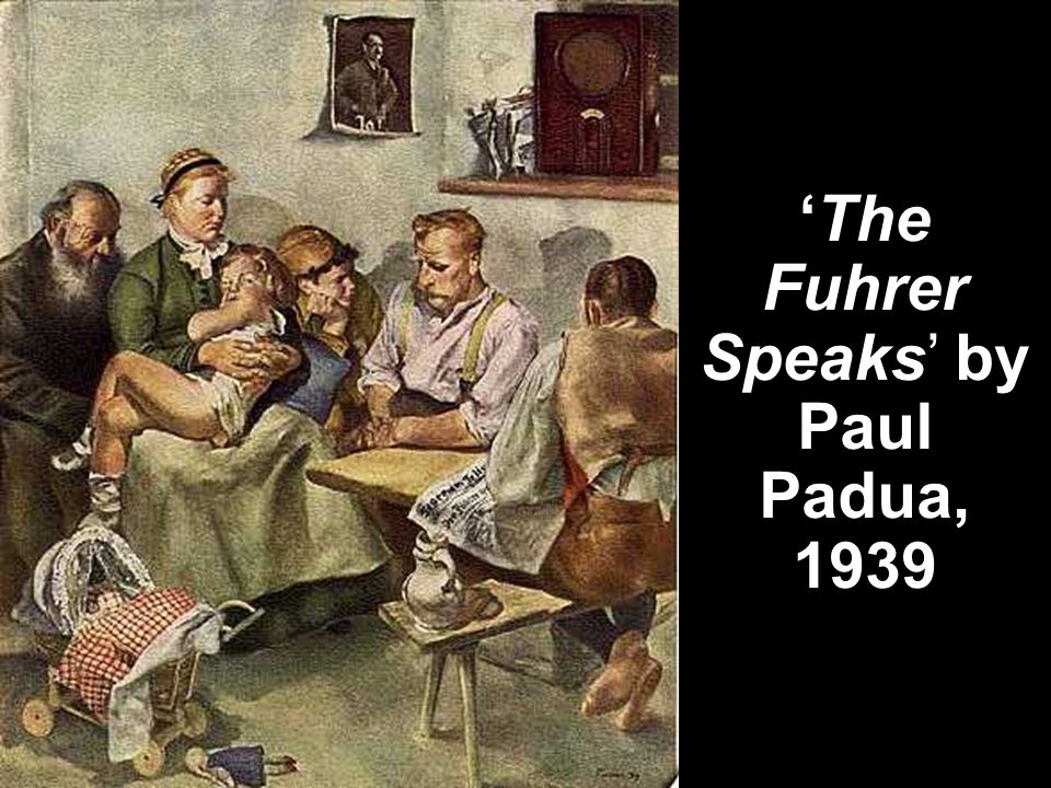 'The Fuhrer Speaks' by Paul Padua, 1939