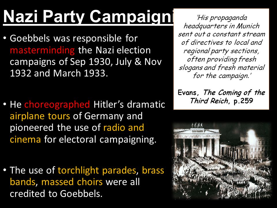 Nazi Party Campaigning