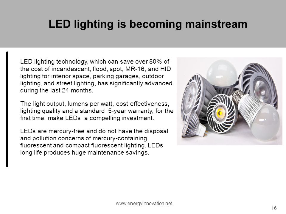 LED lighting is becoming mainstream