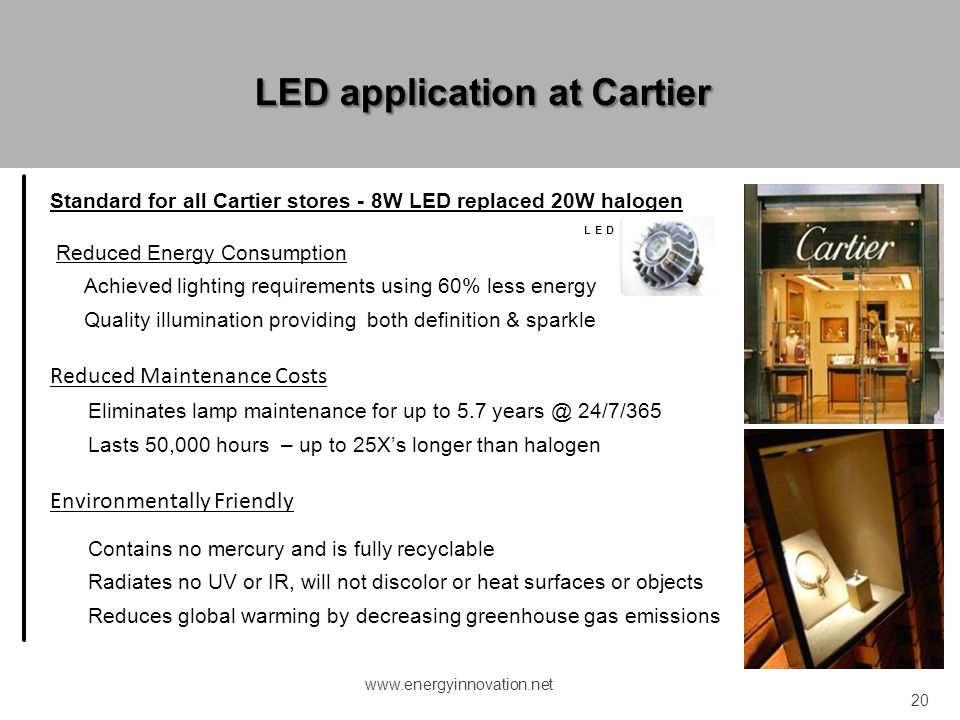 LED application at Cartier