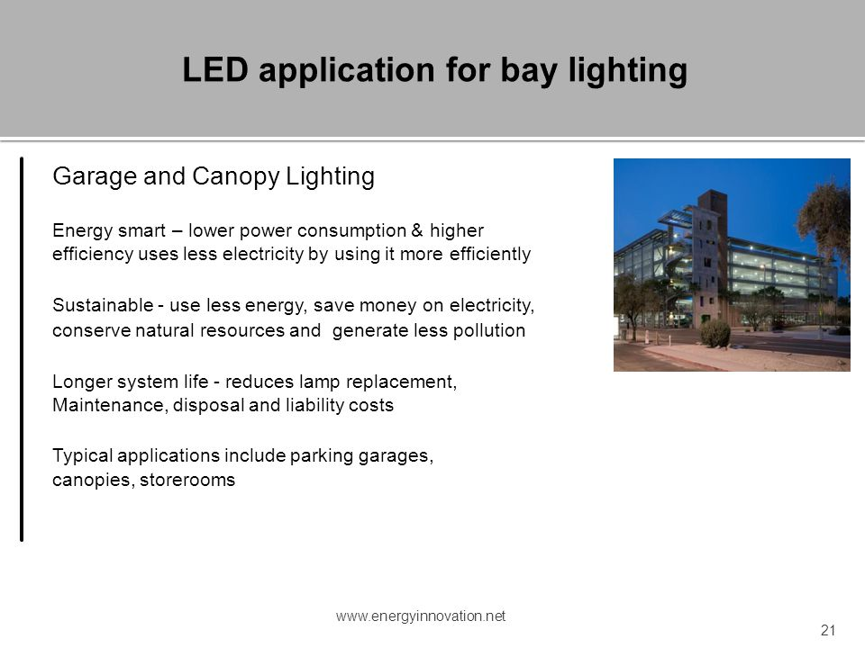 LED application for bay lighting