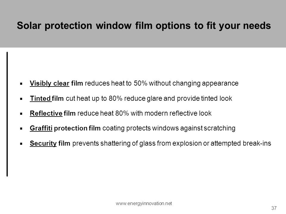 Solar protection window film options to fit your needs