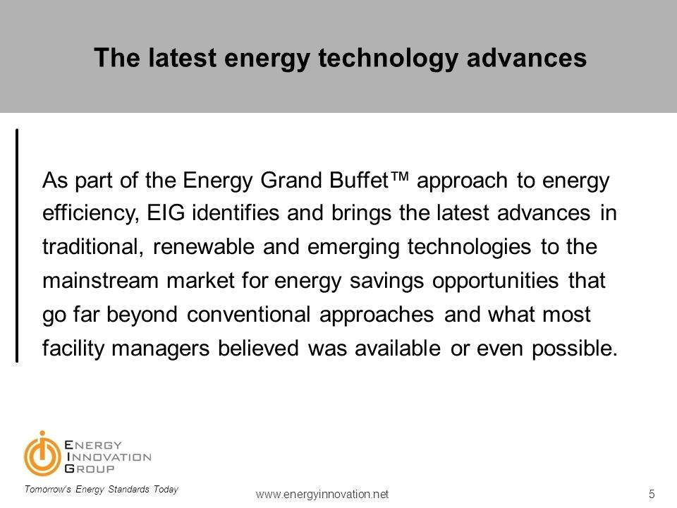 The latest energy technology advances