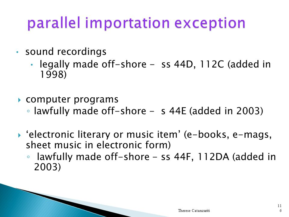 parallel importation exception