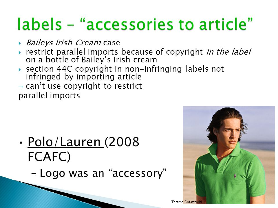 labels – accessories to article