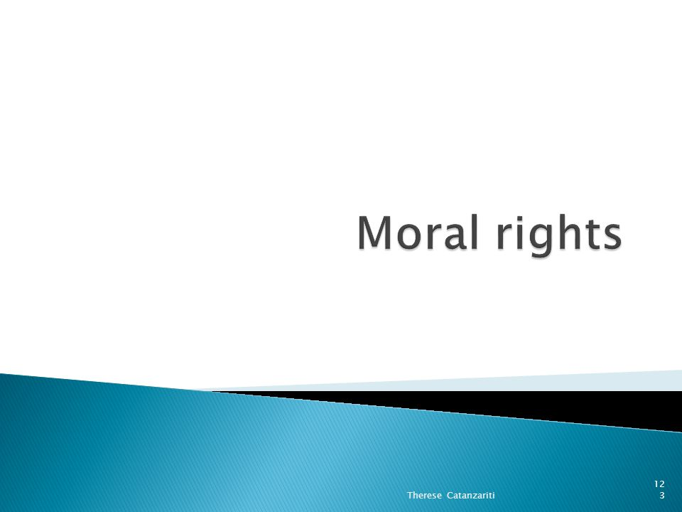 Moral rights Therese Catanzariti