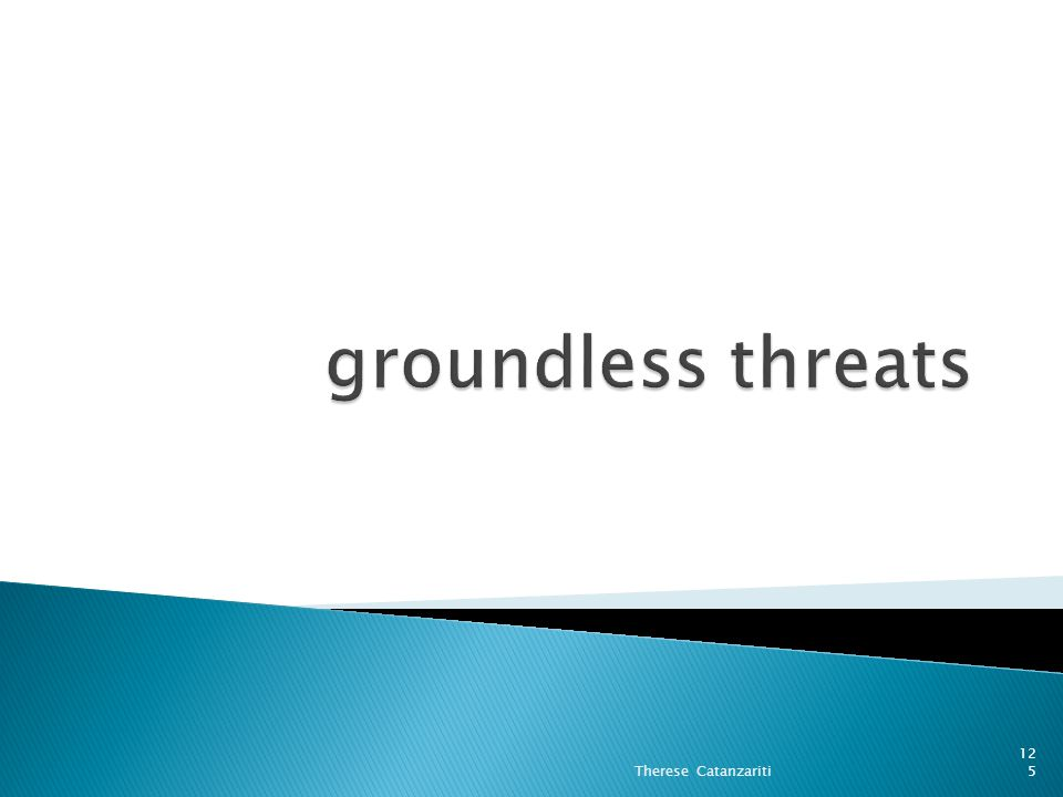 groundless threats Therese Catanzariti