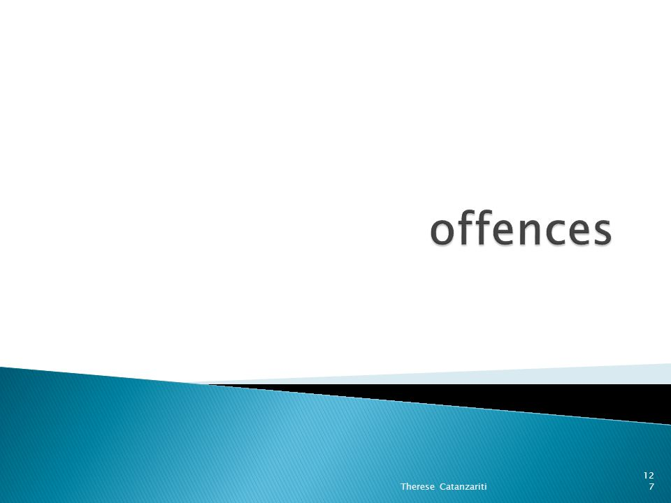 offences Therese Catanzariti