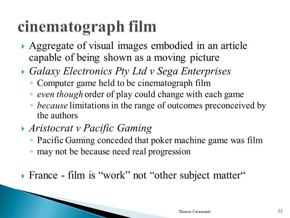 cinematograph film Aggregate of visual images embodied in an article capable of being shown as a moving picture.