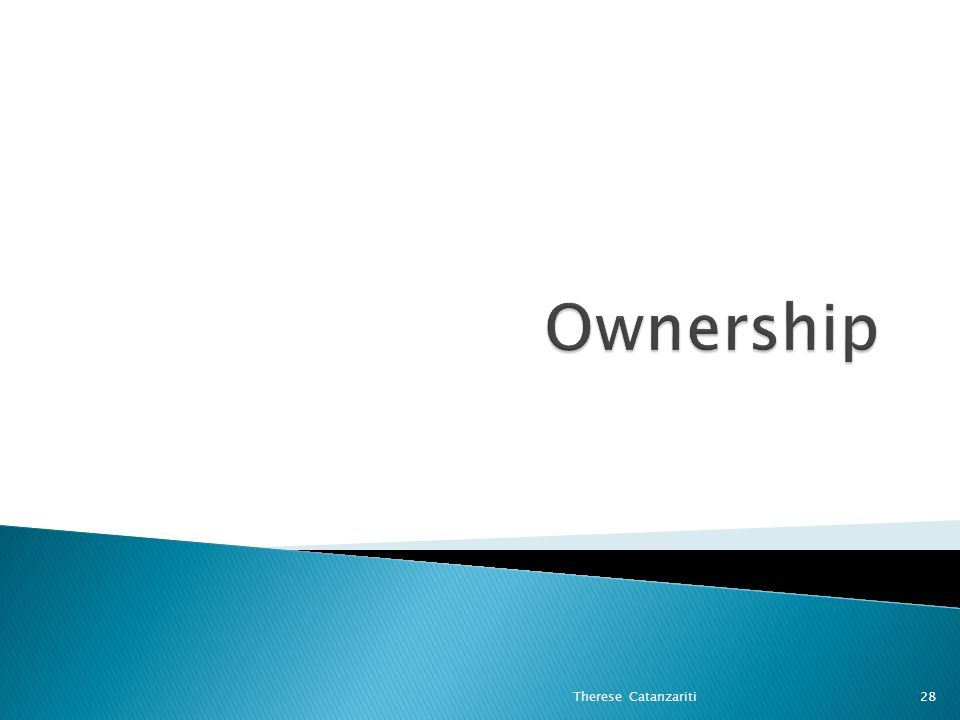 Ownership Therese Catanzariti