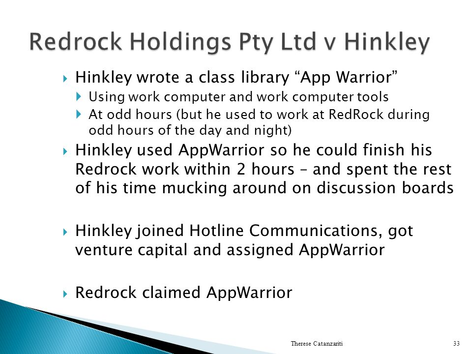 Redrock Holdings Pty Ltd v Hinkley