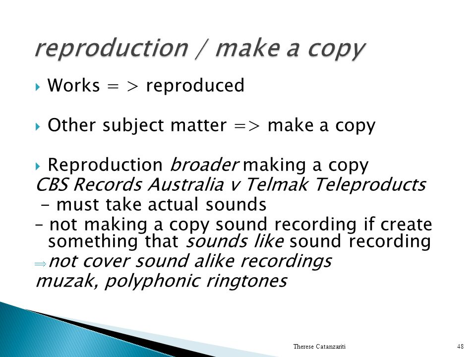 reproduction / make a copy