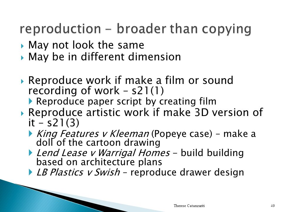 reproduction - broader than copying