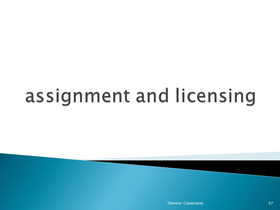 assignment and licensing
