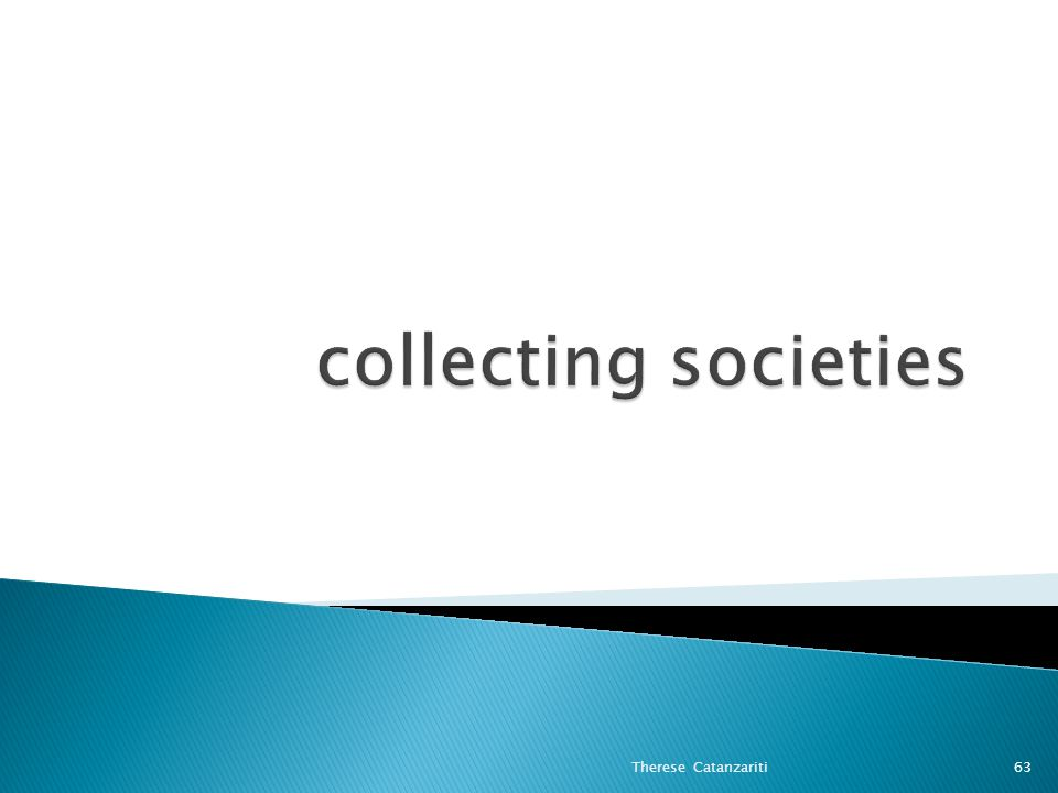 collecting societies Therese Catanzariti