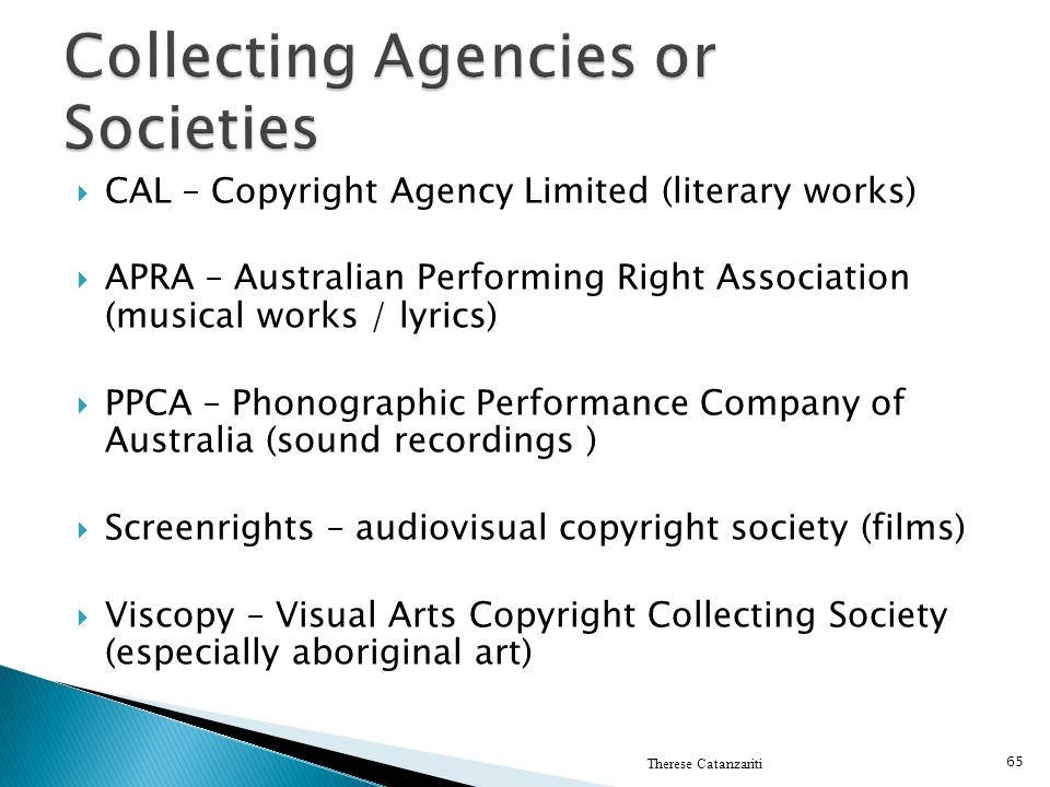 Collecting Agencies or Societies