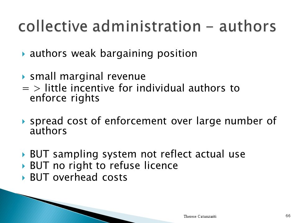 collective administration - authors