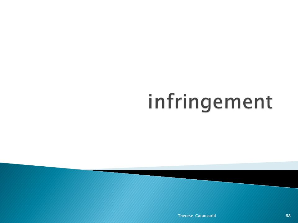 infringement Therese Catanzariti