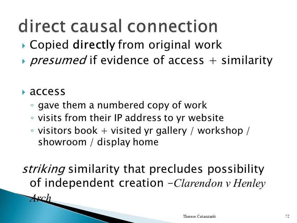 direct causal connection