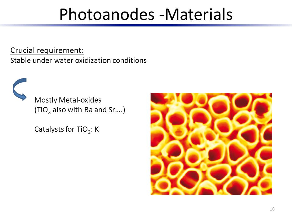 Photoanodes -Materials