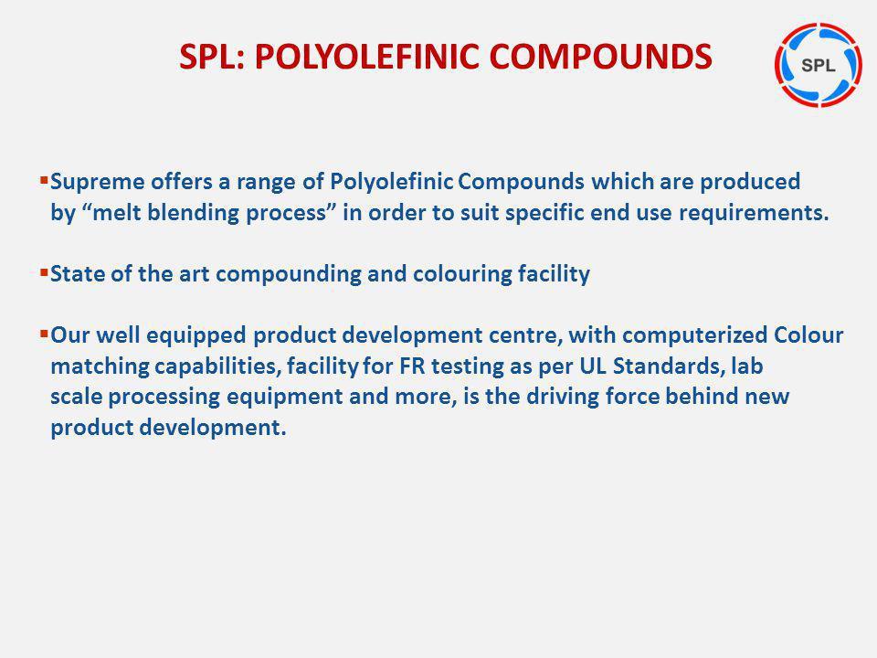 SPL: POLYOLEFINIC COMPOUNDS