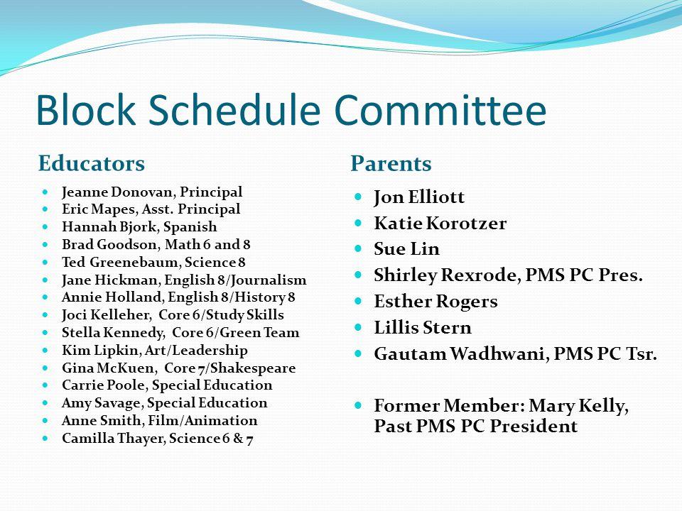 Block Schedule Committee