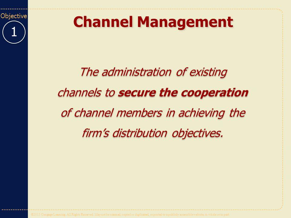 Channel Management 1.