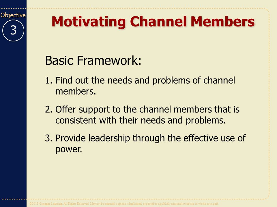 Motivating Channel Members