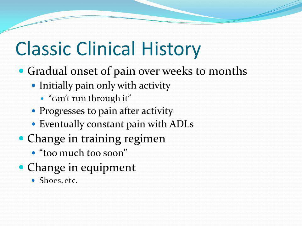 Classic Clinical History