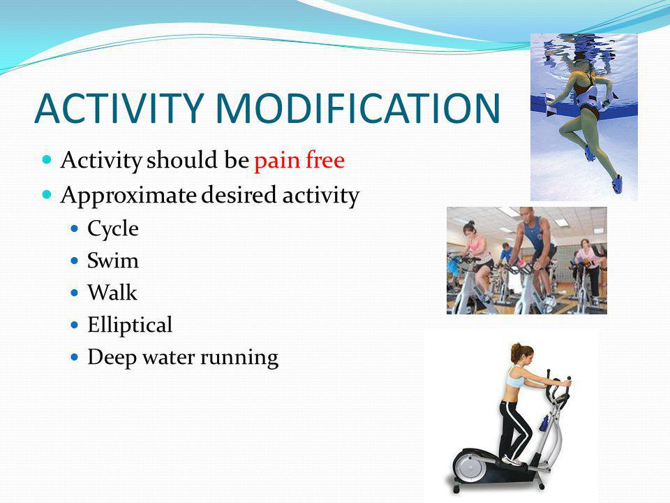 ACTIVITY MODIFICATION
