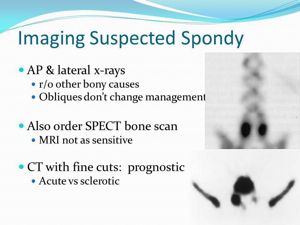 Imaging Suspected Spondy