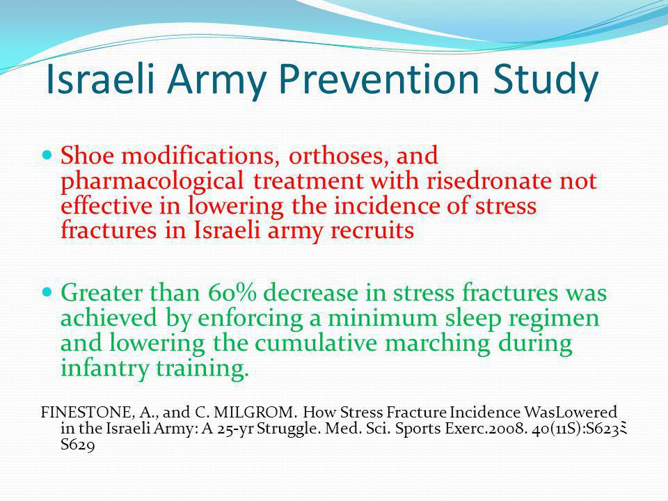 Israeli Army Prevention Study