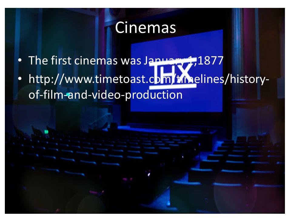 Cinemas The first cinemas was January 1,1877
