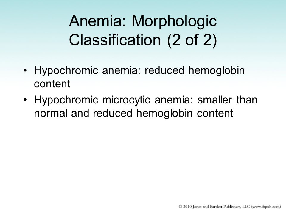 Anemia: Morphologic Classification (2 of 2)